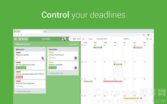 Chrome日程插件 Planyway :Trello日程管理日历