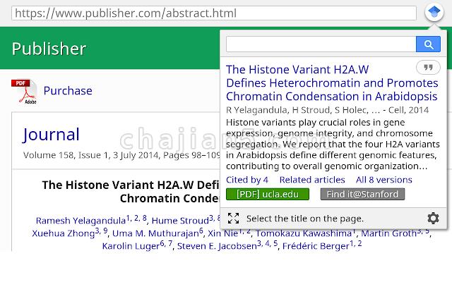 Google Scholar Button-Google学术搜索按钮