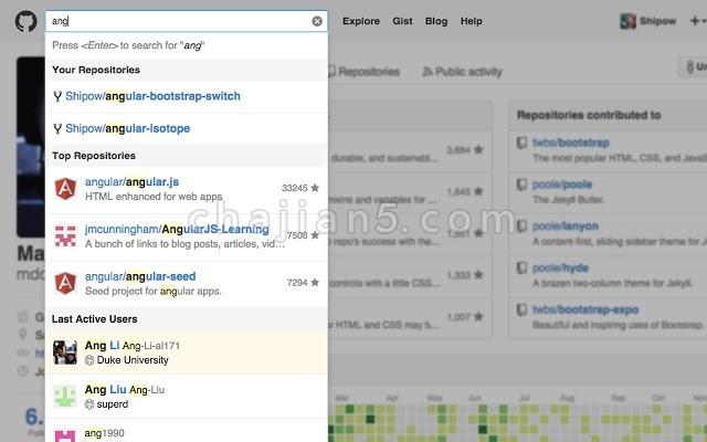 Awesome Autocomplete for GitHub更方便的在GitHub 上搜索代码