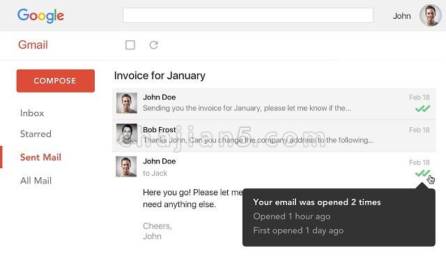 Email Tracker for Gmail - Mailtrack查看电子邮件是否已被阅读的Gmail跟踪插件