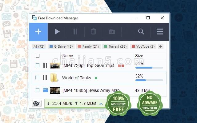 Free Download Manager(简称FMD)好用的Chrome下载工具插件