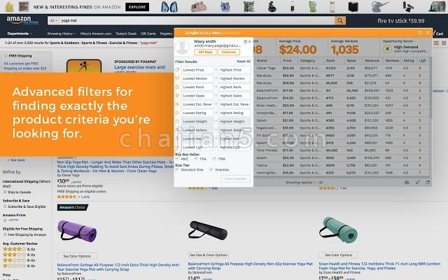 亚马逊卖家选品分析工具 Jungle Scout: Extension
