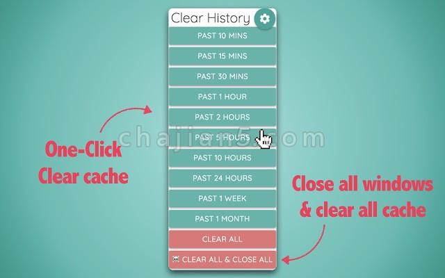Super History & Cache Cleaner清除浏览器历史记录缓存和Cookie