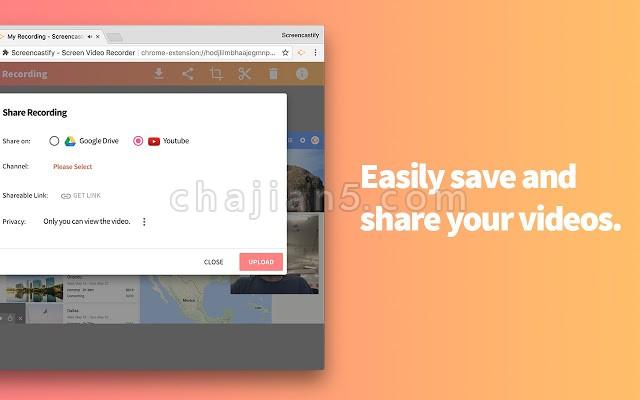 Screencastify 网页录屏录像插件 可导出GIF动图
