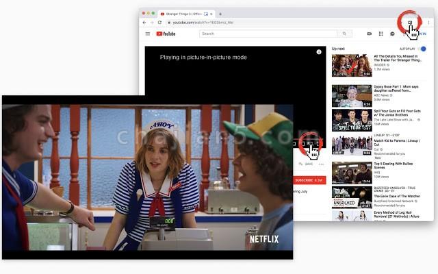 画中画模式播放视频的Chrome浏览器插件Picture in Picture for every website