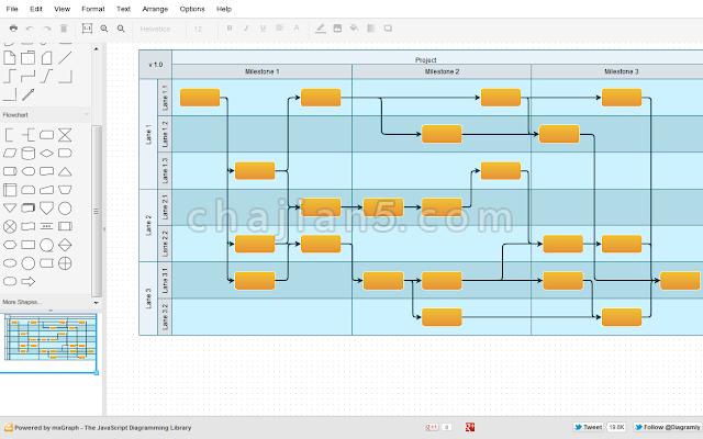 Draw.io - Chrome免费的流程图表编辑器插件