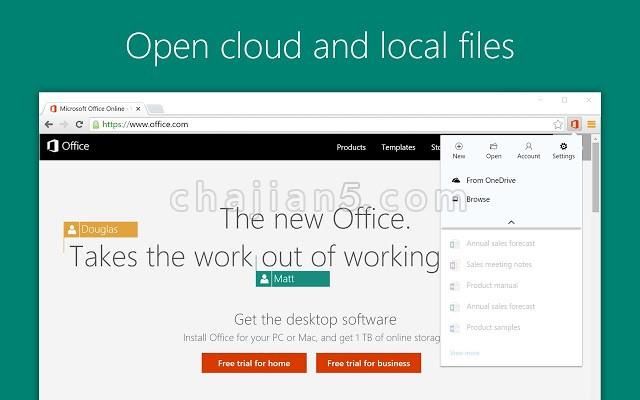 微软Office Chrome扩展方便在浏览器中查看、编辑和创建文档