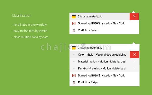 Aerys - Chrome网页窗口标签管理器插件