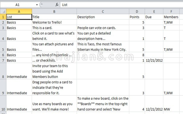 Export for Trello 沟通协作工具Trello导出Excel xlsx文件的Chrome浏览器插件