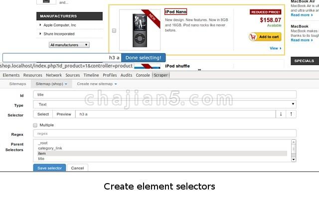 Web Scraper 网页数据抓取工具Chrome浏览器扩展插件