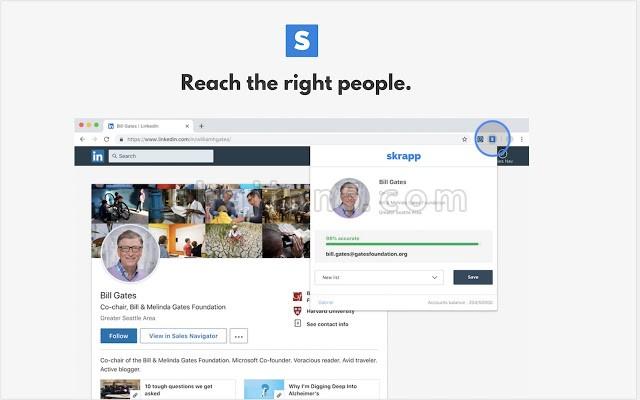 Skrapp 帮你在Linkedin上收集邮箱地址做邮件列表