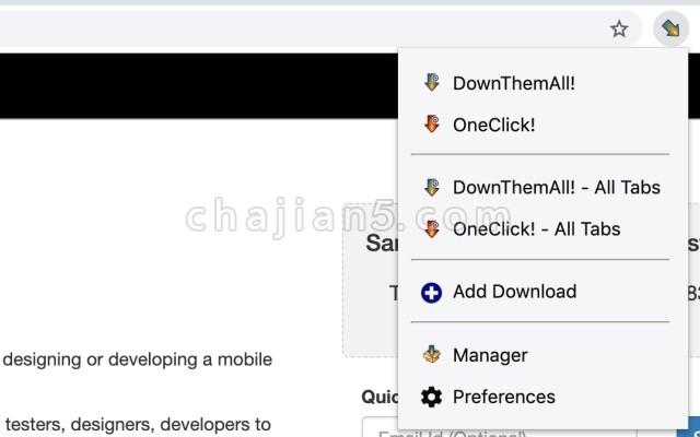 DownThemAll Chrome浏览器批量下载插件