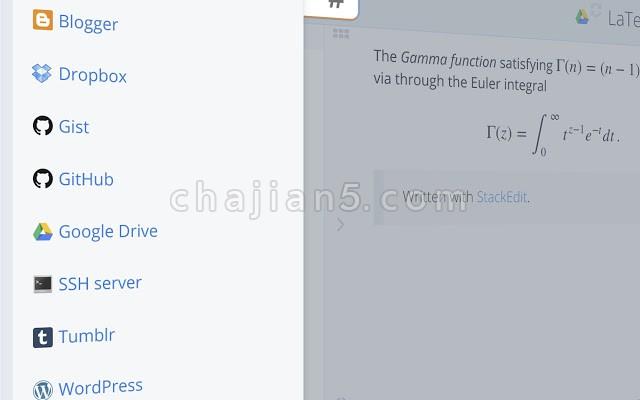 StackEdit Chrome上好用的MarkDown编辑器插件