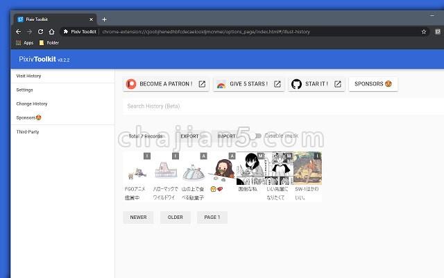 Pixiv Toolkit 插画交流网站P站Chrome Pixiv工具箱插件