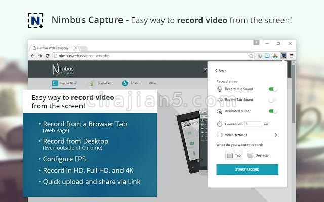 Nimbus 全屏截屏 & 屏幕录像机