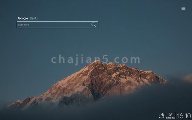 Start Here 简洁的新标签页Chrome扩展插件