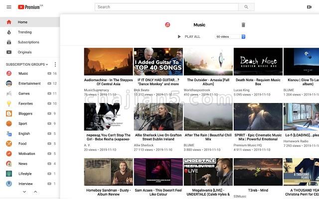 PocketTube-帮你分类整理YouToube订阅清单
