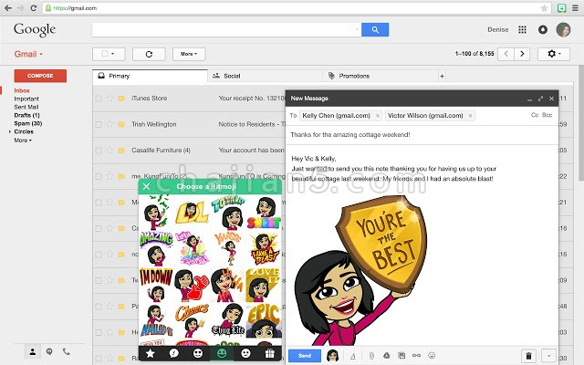 Bitmoji-Snapchat旗下的个性化表情包插件