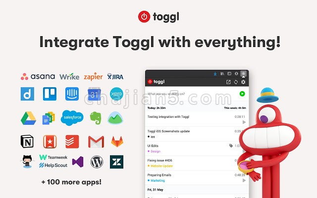 Toggl Button: Productivity & Time Tracker 给访问的网页添加计时器