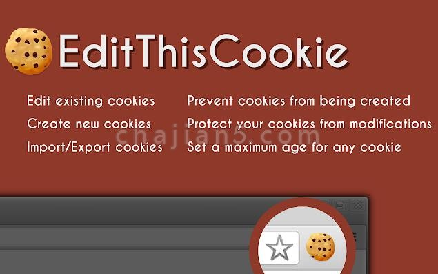 EditThisCookie 可删除 编辑 屏蔽的cookie管理器