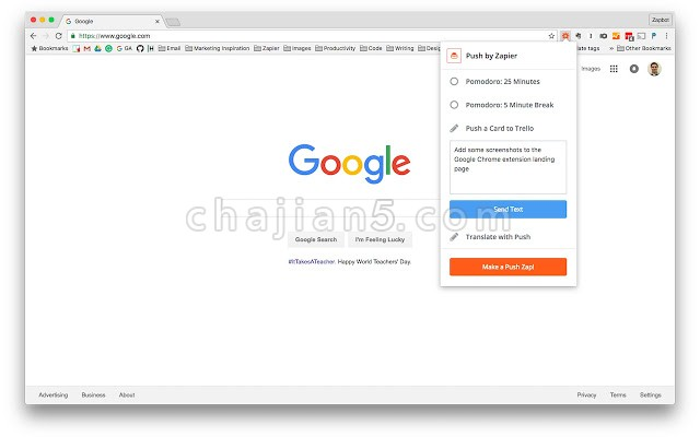 Zapier for Chrome