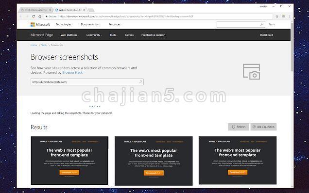Multi-browser Screenshots测试网站在常见浏览器/设备下的效果
