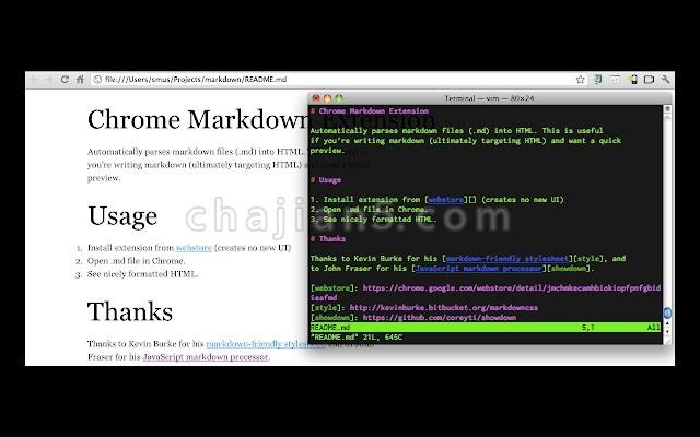 Markdown Preview Plus自动把Markdown转换为HTML语法