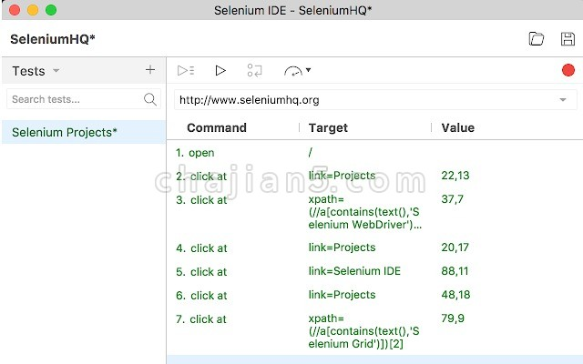 Selenium IDE开源的WEB自动化工具
