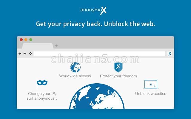 anonymoX 方便匿名访问网页