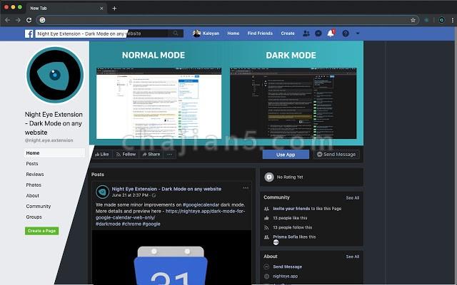 Night Eye 夜间眼睛 - 任何网站上的黑暗模式