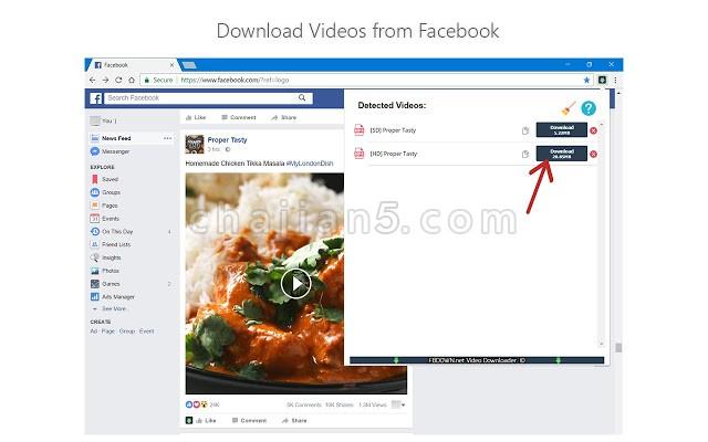 Video Downloader PLUS 视频下载插件(by fbdown)