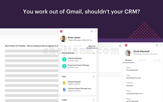 Copper CRM for Gmail客户关系管理插件