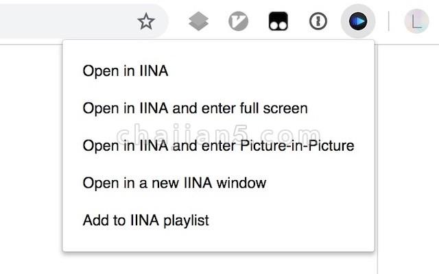 Open In IINA 在IINA播放器中打开视频(支持VP9编码)