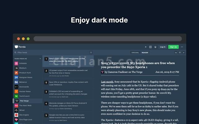 Panda 5 - 一个优美的网站订阅收藏夹(阅读器)