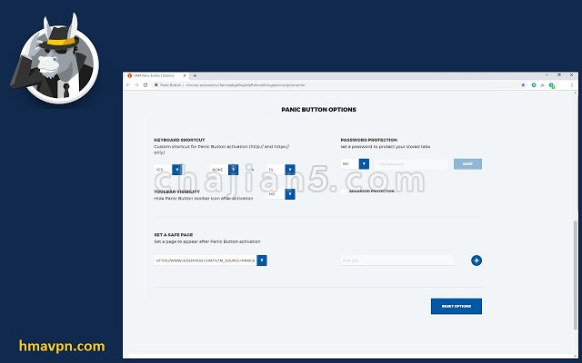 Panic Button 一键隐藏所有浏览器标签页面