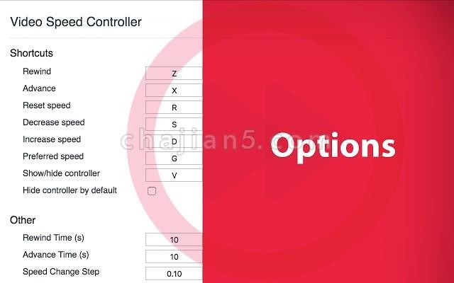 Video Speed Manager 视频速度控制插件
