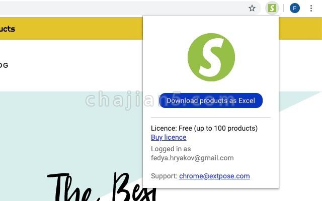 Shopify spy - shopify store parser & scraper将Shopify商店中的产品列表提取到Excel/CSV