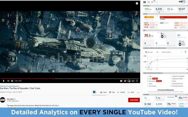vidIQ Vision for YouTube v3.15.2 YouTube视频数据分析
