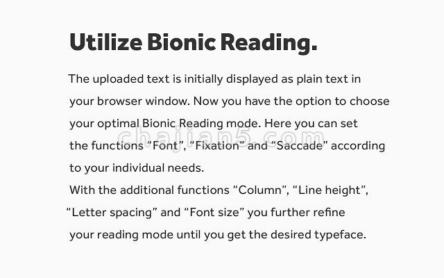 BionicReading 仿生学阅读