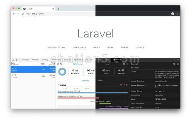 Clockwork  在 Chrome 浏览器中显示 Laravel 应用调试信息