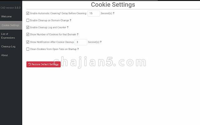 Cookie AutoDelete 自动删除浏览器Cookie