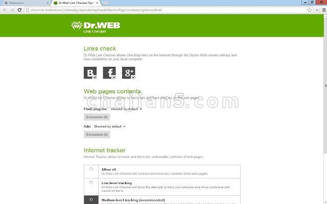 Dr.Web LinkChecker 在线检查网页安全性