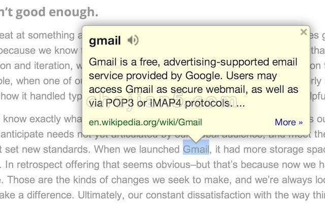 Google Dictionary (by Google) 谷歌词典 官方出品