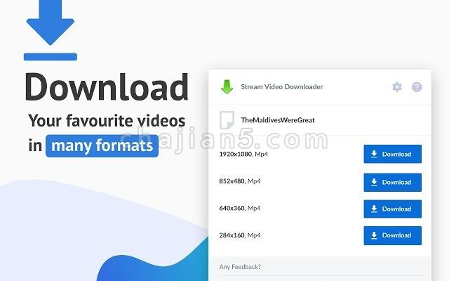 Stream Video Downloader 网页流媒体视频音频下载插件