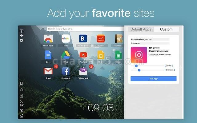 Home - New Tab Page 可以定制的新标签页