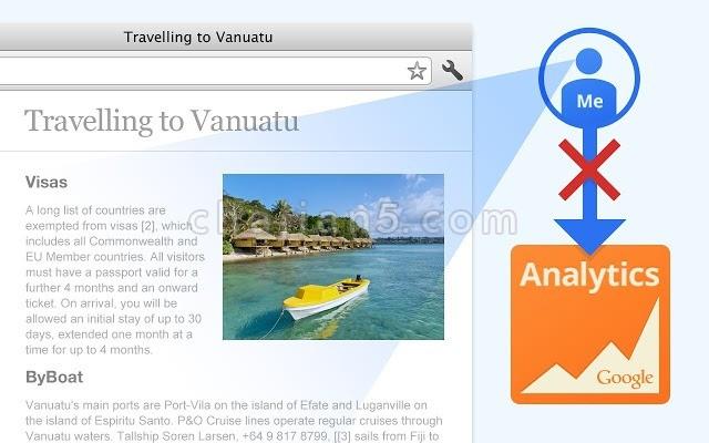 Google Analytics Opt-out Add-on(禁止网站使用谷歌统计分析收集信息)