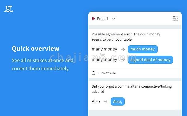 Grammar and Spell Checker - LanguageTool 语法和拼写检查器