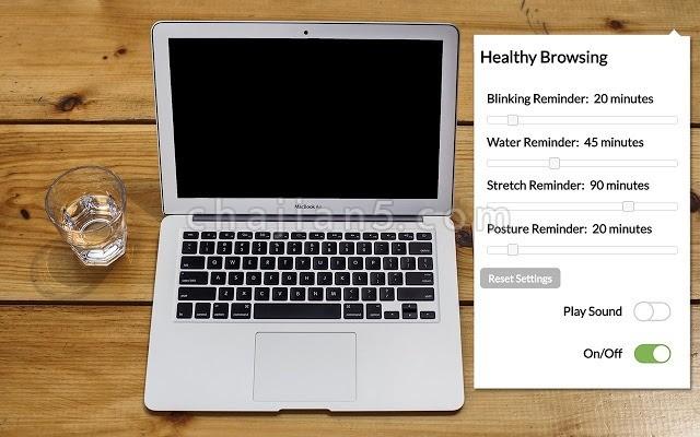 Healthy Browsing 提醒你喝水 眨眼 伸展身体的插件