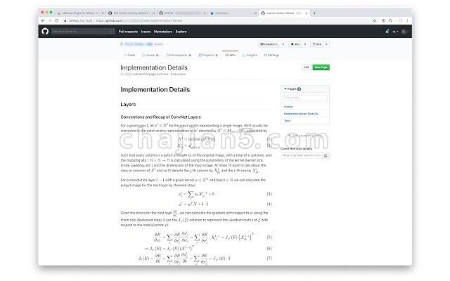 MathJax Plugin for Github(在Github上显示数学公式)