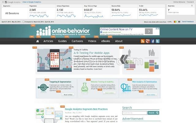 Page Analytics (by Google) 查看网站页面统计信息(谷歌官方提供)
